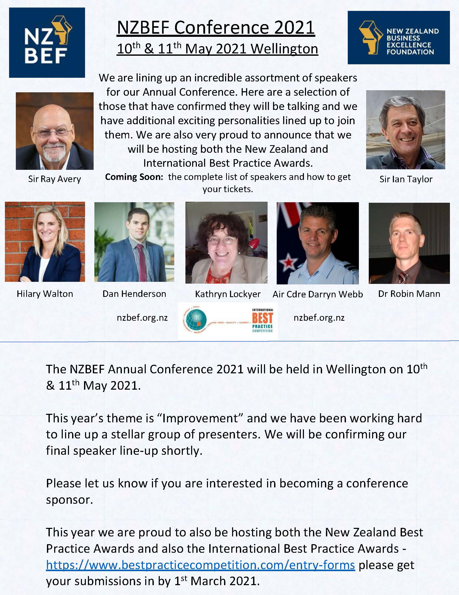 NZBEF Conference May 2021